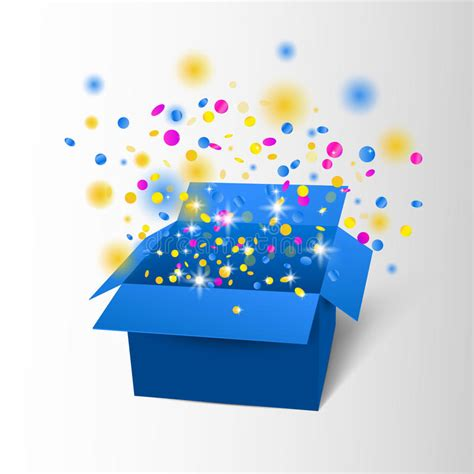 confetti by happybox happy birthday box with confetti vector blue box