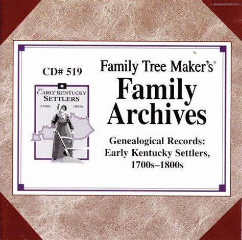 Early Kentucky Marriage Records Family Tree Maker Genealogical Records Early Kentucky