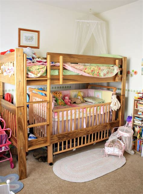 baby crib bunk beds toddler bunk bed with crib woodworking projects plans
