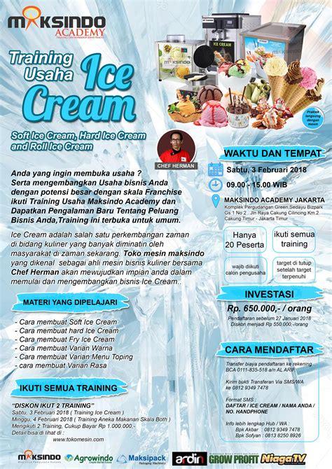 membuka usaha ice cream training usaha ice cream dan toping sabtu 3 februari 2018