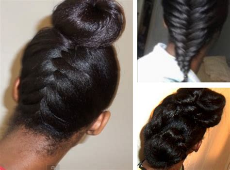 simple hairstyles for relaxed hair hairstyle ideas for long relaxed hair or flat ironed