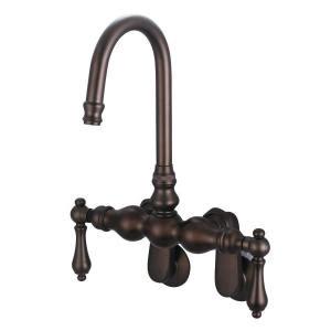 gooseneck tub wall mount faucet metal lever handles water creation 2 handle wall mount vintage gooseneck claw