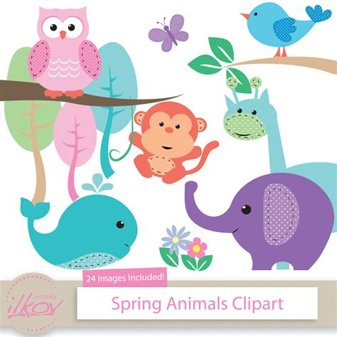 Baby Animal Clipart Baby Shower by Animal Baby Shower Clipart 78