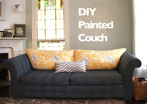 painting a couch how to paint furniture upholstery a diy sofa makeover