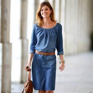 robe droite jean blancheporte