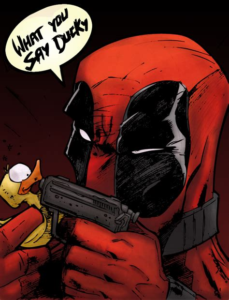 Did You Say Duck From The You Are A Photo Pool by Deadpool Vs Ducky By Chadxilla On Deviantart