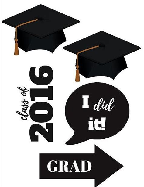 printable photo booth props graduation graduation photo booth printables class of 2016 party
