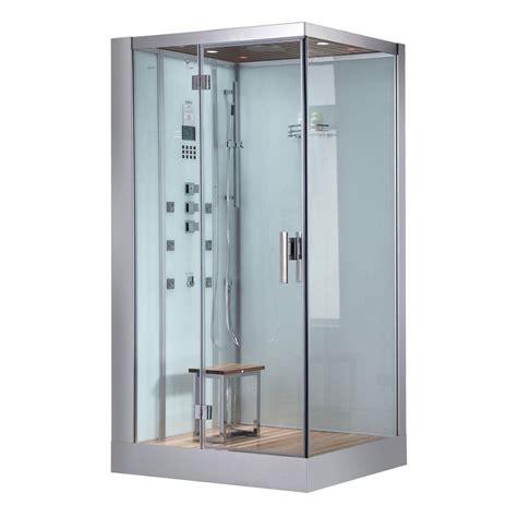 bath shower enclosure kits ariel 59 in x 31 5 in x 86 in steam shower enclosure kit with tub in white ws 905 the home
