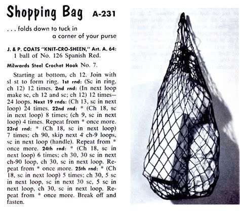 crochet pattern net bag vintage crochet pattern for a reusable net shopping bag