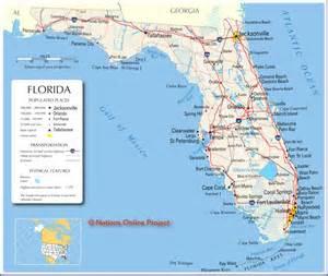 map of florida including cities florida map