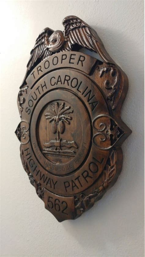 Painting V Carved Signs by 3d V Carved Personalized South Carolina State Trooper