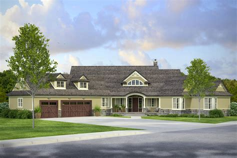 this new country house plan allows you to appreciate the