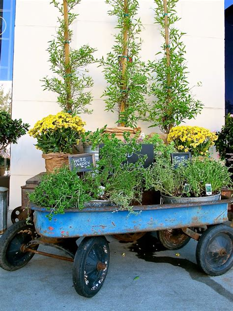 Wagon Planters by Wagon Flower Planter Images