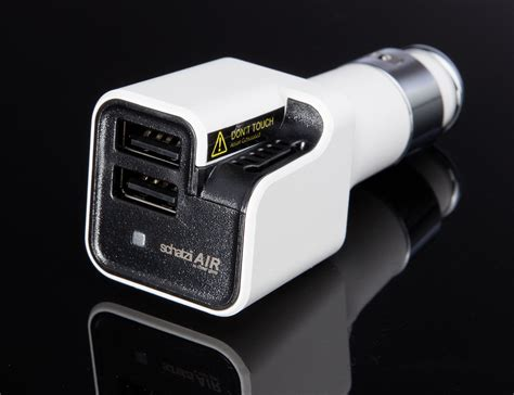 schatzii air ionic car air purifier dual usb car charger