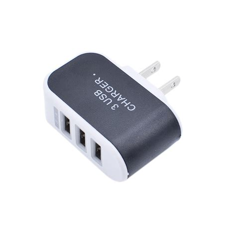 ac usb charger adapter portable 3 usb port wall charger adapter eu us