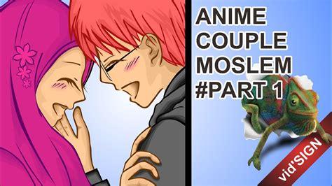 design anime couple muslim part  youtube