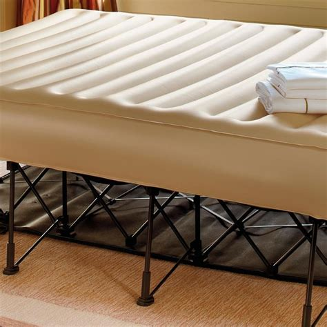 ez inflatable bed frontgate essential inflatable portable rolling family ez
