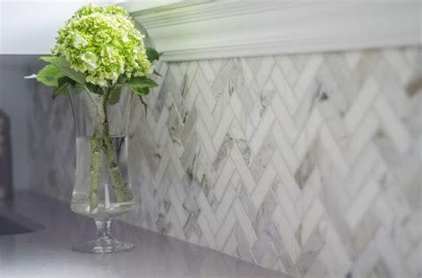 Stone Tile Kitchen Backsplash by Herringbone Splashback Tiles Amp Rescue Remedy For Small Spaces