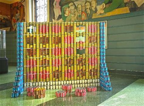 simple canstruction ideas can sculptures made to fight hunger