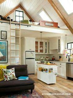 vaulted ceiling  partial loft  kitchenbath