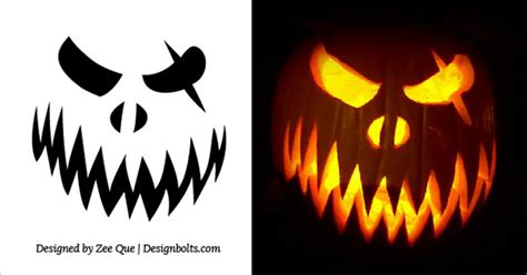 scary pumpkin faces templates o lantern pumpkin carving patterns free
