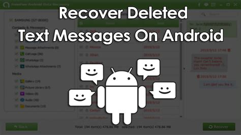 how to retrieve deleted texts from android how to recover deleted text messages on android device
