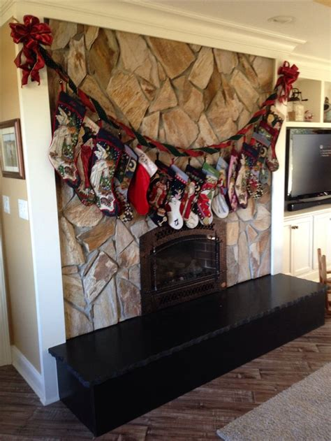hanging christmas stockings without a mantle craft