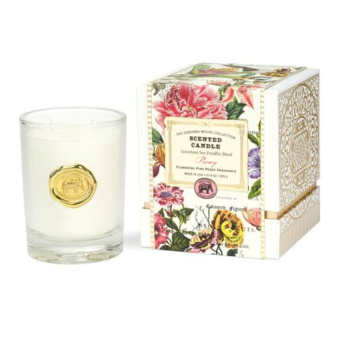amazon com michel design works peony blossom home fragrance room peony scented candle