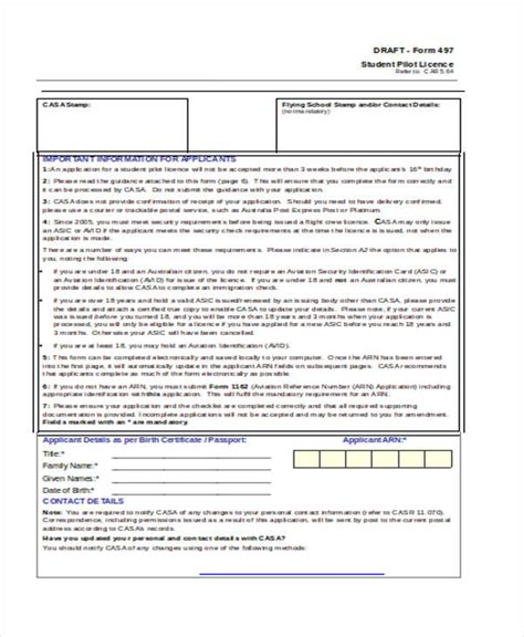 41 student application form templates