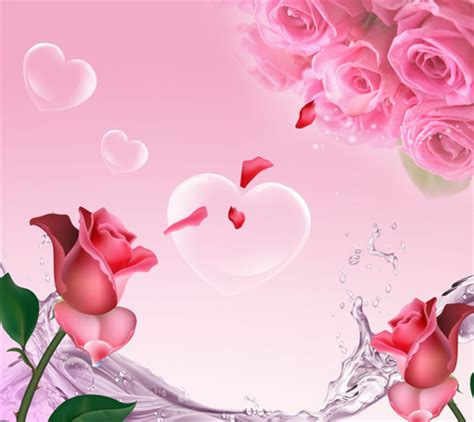 wallpaper flower i love you i love you flowers nature background wallpapers on