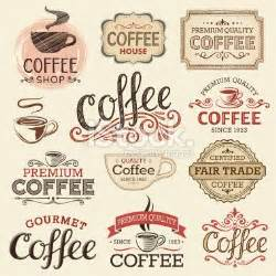French Kitchen Canisters hand drawn vintage coffee labels royalty free stock vector