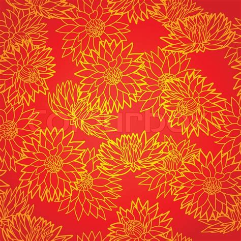 new year flower pattern national seamless pattern with chrysanthemum