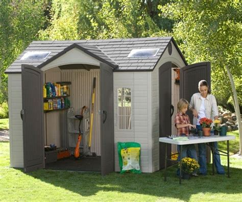 10 x8 plastic sheds with floors lifetime 60001 garden shed dual door on sale now epic sheds