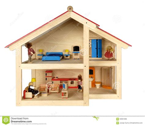 child doll house child s doll house with furniture stock photo image 59091996