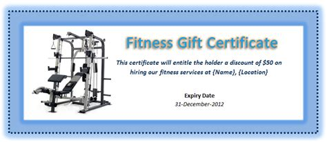 fitness gift card template 36 free gift certificate templates bates on design