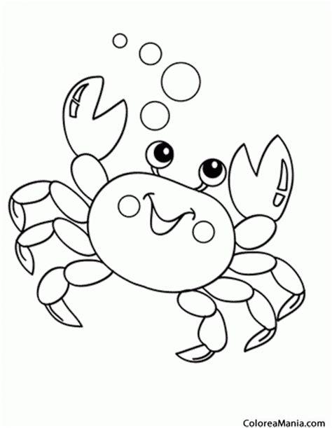 imagenes animales marinos para colorear colorear cangrejo burbujas animales marinos dibujo para