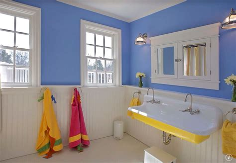 kids bathroom tile ideas cottage kids bathroom with wainscoting penny tile floors