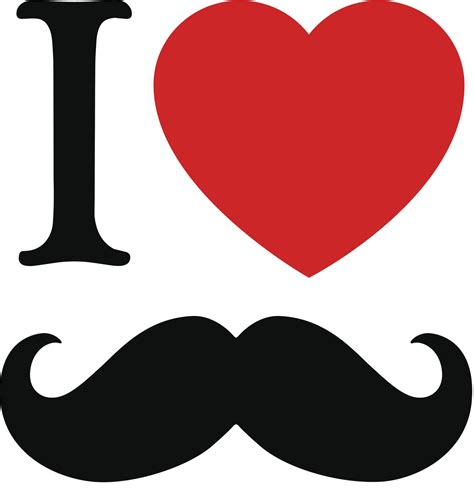 clipart mustache mustache clip images black and white