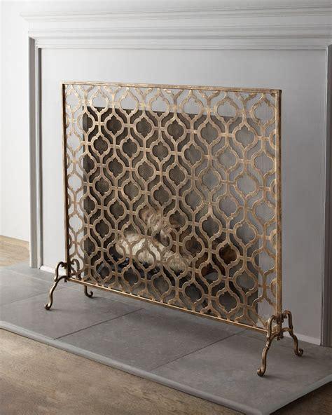 single panel fireplace screen gold fireplace screen dream home