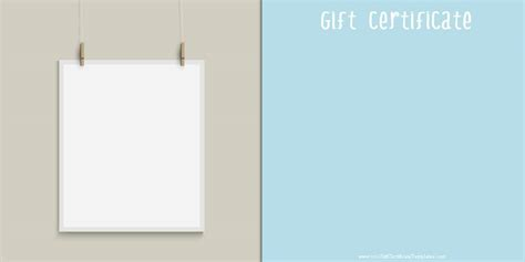 birthday gift certificate template free printable ideas collection