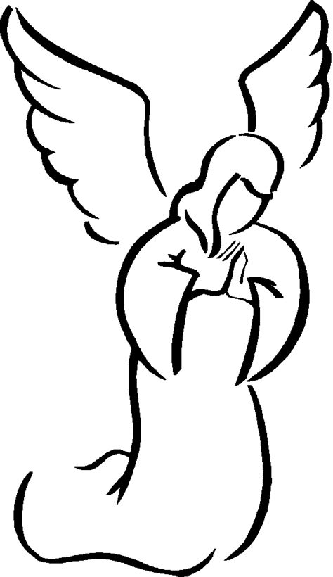 clipart angeli simple clipart black and white clipart best