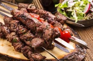 Turkish Main Dishes - marinated greek lamb souvlaki recipe skewers with pita