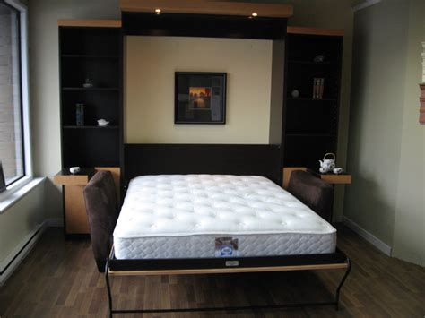 tv  murphy bed contemporary home theater