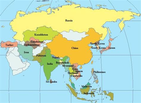 map of asia continent best 25 asia map ideas on south asia map