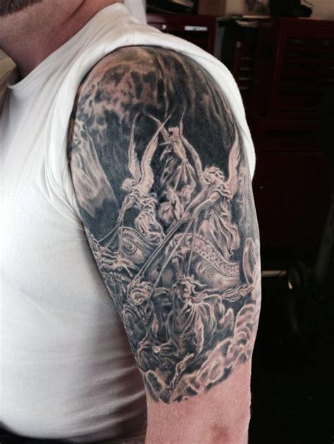 four arm tattoo gustave dore four horsemen beginning of a dore sleeve
