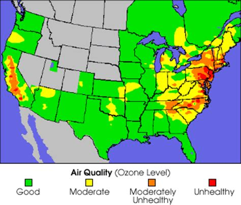 air pollution map america chemistry in the sunlight feature articles