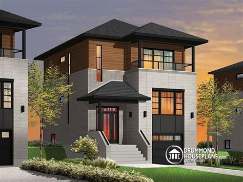 narrow modern house modern small house plans narrow lot