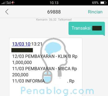 format cek transaksi sms banking bni 5 cara cek transaksi kartu kredit bca via sms klikbca