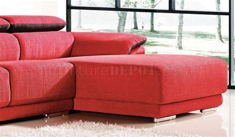 red fabric sectional 22313 racer red 2pc sectional sofa in fabric by chelsea