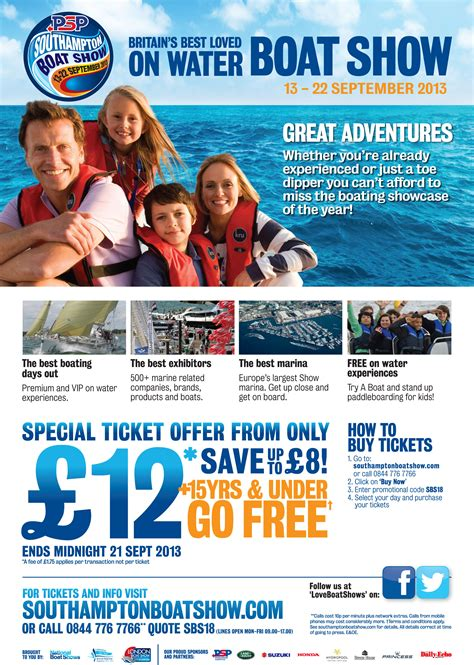 ta bay boat show promo code psp southton boat show ticket offer bsupa